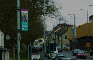 lamp post banner advertisement omagh district council