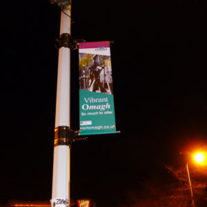 lamp post banner sign omagh district council case study