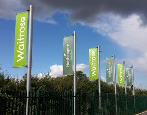 Waitrose lamppost banner