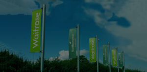 Waitrose outdoor advertising lamp post banners