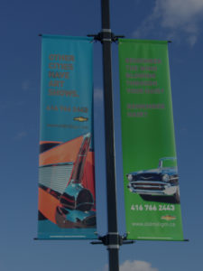 oldmillgm lamppost banner advertising